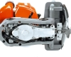 Taille-haie thermique OLEO MAC HC 265 XP, vue dessous